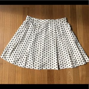 J. Crew Polka Dot Pleated Skit, 6, EUC